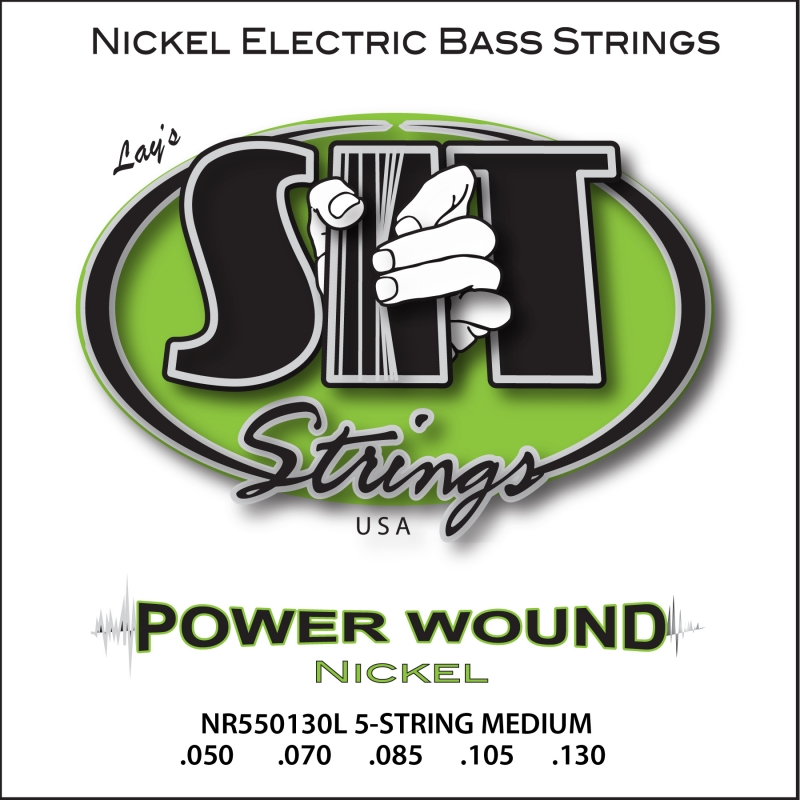 POWER WOUND 5-STRING MEDIUM NICKEL BASS
